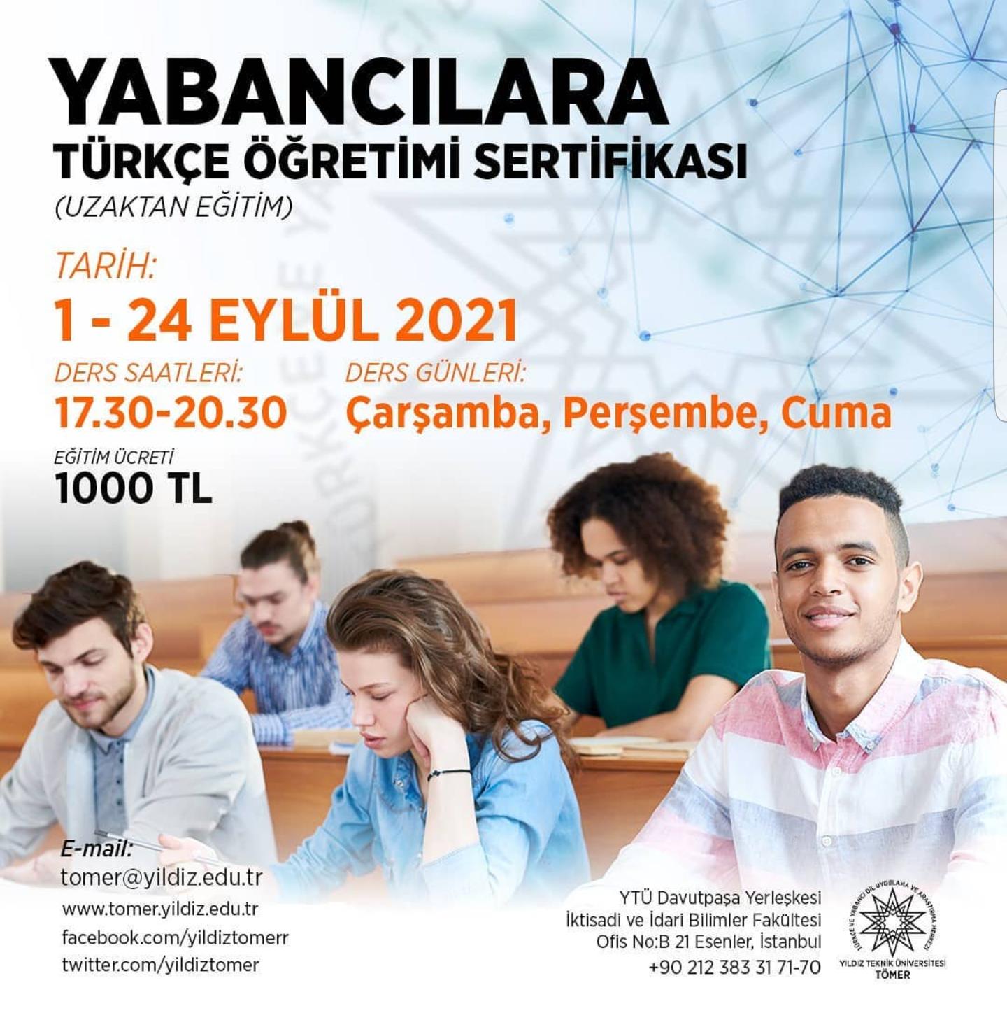 Yabancılara Türkçe Öğretimi Sertifika Programı (Uzaktan Eğitim)