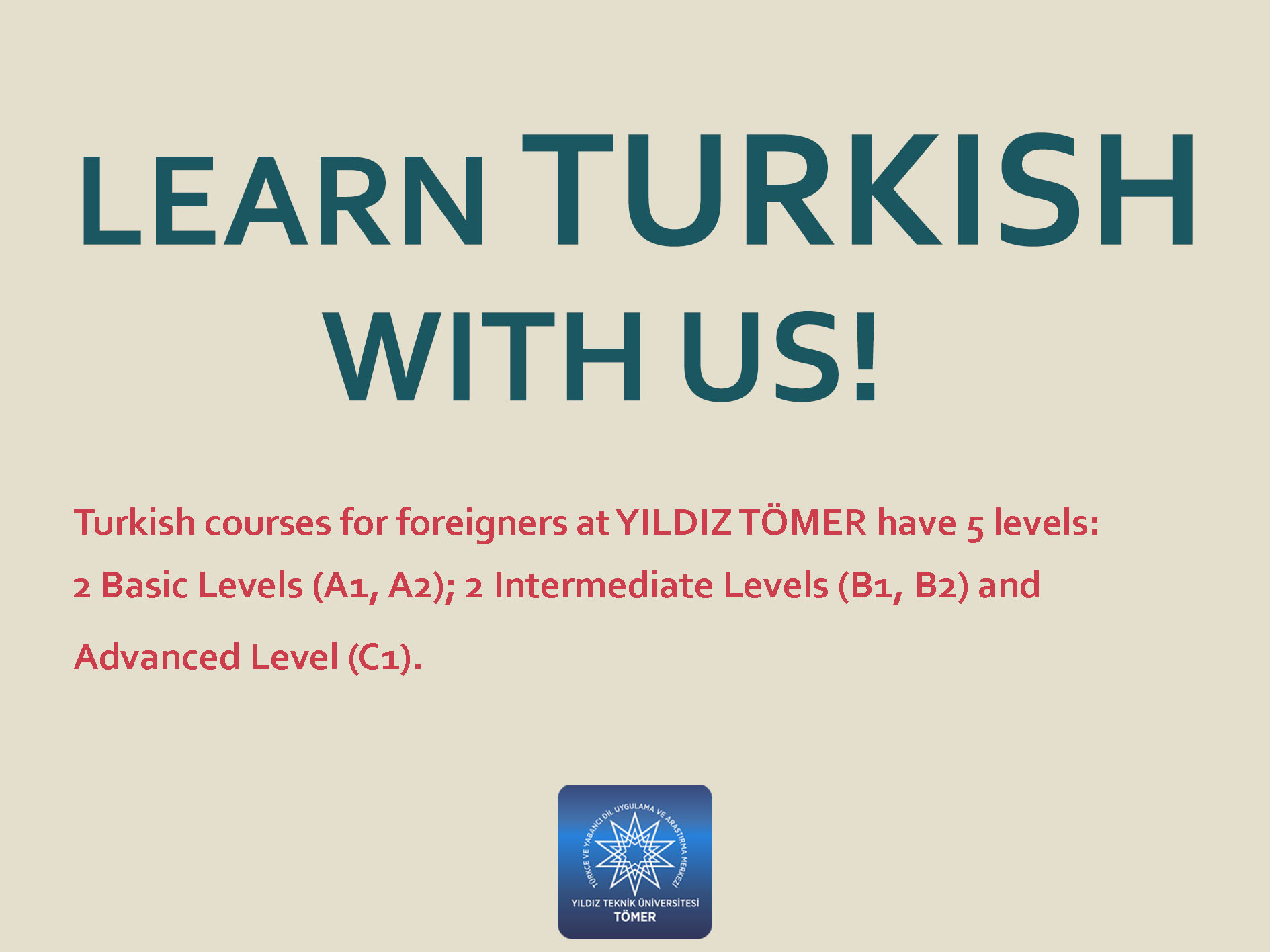TURKISH COURSES AND TURKISH PROFICIENCY EXAM