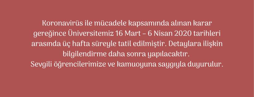 DERSLERE ARA VERİLMESİ